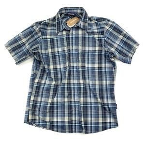 Patagonia Mens Small Bandito Shirt Dolomite Blue